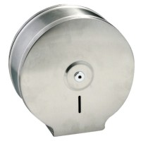 Dispenser inox oglinda, pentru hartie igienica Jumbo, cu cheie, (1buc)