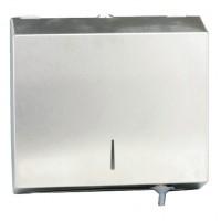 Dispenser inox oglinda, pentru prosoape hartie pliata C&M, cu cheie, (1buc)
