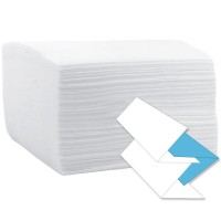 Prosop hartie V 21x23cm, 2 straturi, 100% celuloza, alb (160buc/set)