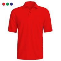 Tricou cu guler si nasturi 170gr, bumbac 100%, colorate rosu, verde, albastru, marimi XS, S, M, L, XL (1 buc)
