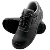 Pantofi de protectie S1, bombeu metalic, talpa antiderapanta, fete piele bovina, cu sireturi, negri, CE mark, marimi 36-48 (1 pereche)