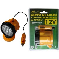 Lampa lucru cu 7 leduri si magnet si alimentare la 12 V
