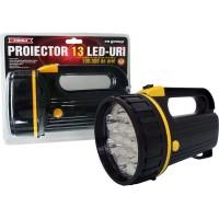 Lanterna proiector cu 13 LED-uri, cu baterii