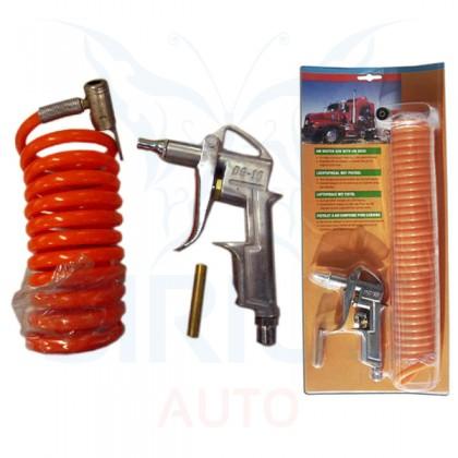 Pistol pentru aer comprimat, cu furtun spirala, 4 M lungime