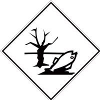 Eticheta ADR suport aluminiu Pericol Transport substante periculoase pentru mediul inconjurator (300x300mm)
