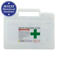 Trusa medicala / sanitara auto de prim ajutor, productie Romania, avizata MS si RAR, valabilitate 24 de luni