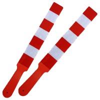 Paleta reflectorizanta dungi alb-rosu (baston tip agent circulatie)