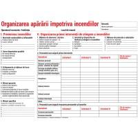Organizarea apararii impotriva incendiilor - nepersonalizat, carton A3