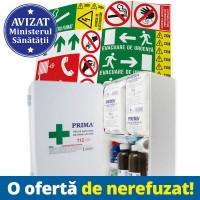 Trusa Sanitara Prim Ajutor Fixa + 28 Autocolante obligatorii firme + Tipizat A3 PSI - la alegere